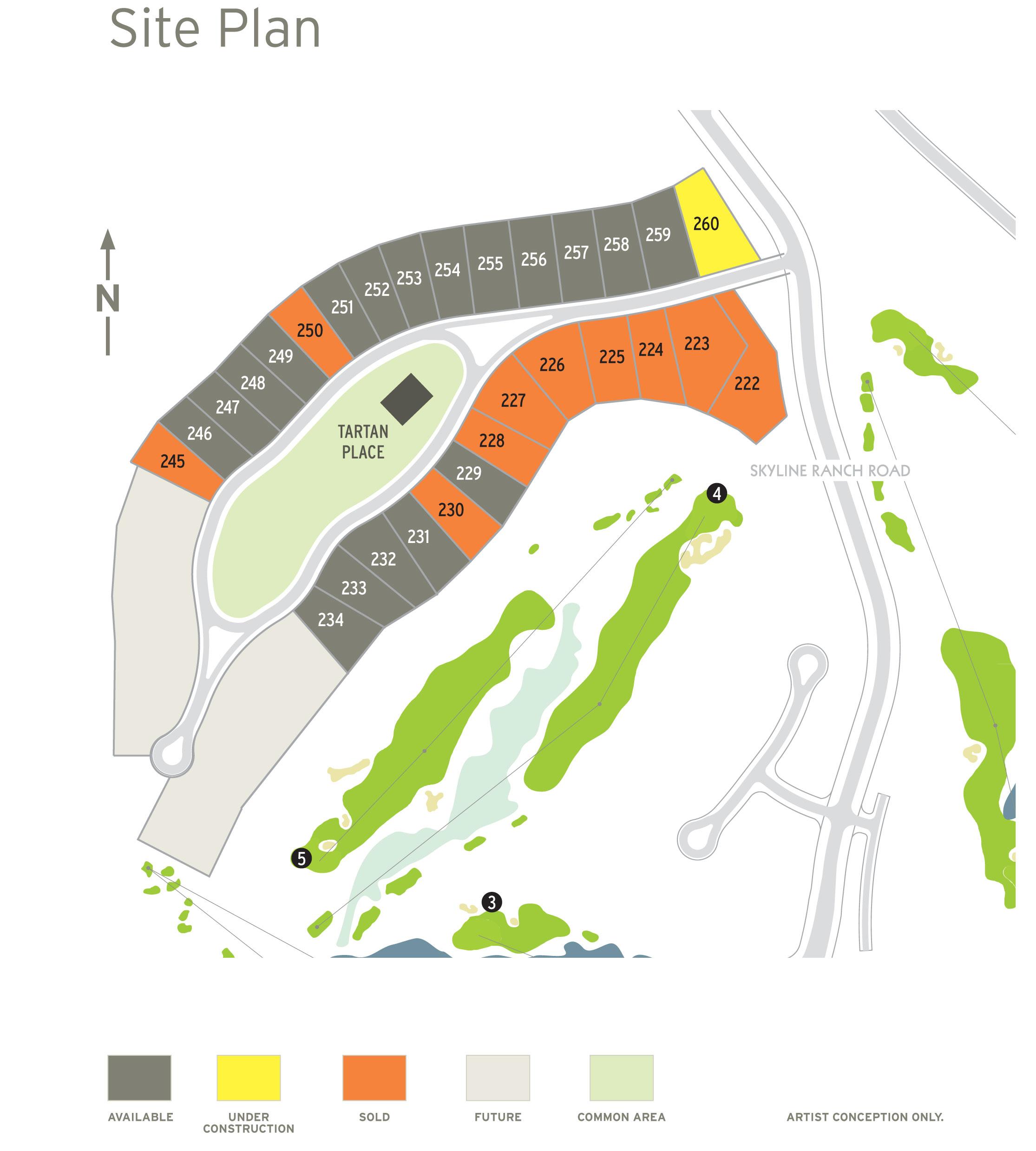 Tartan Druim Site Map