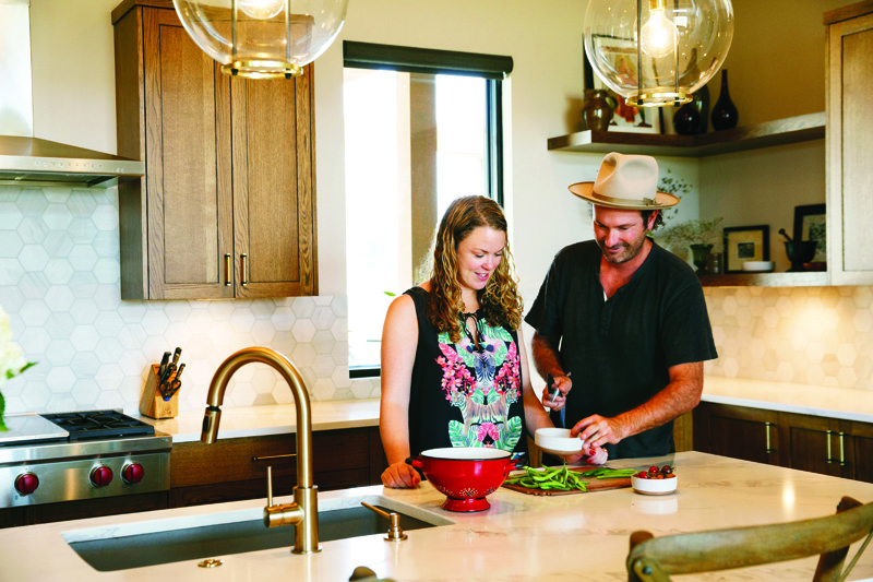 Ellish and Eric Canady in their Tartan Druim kitchen. Customers who love to customize.