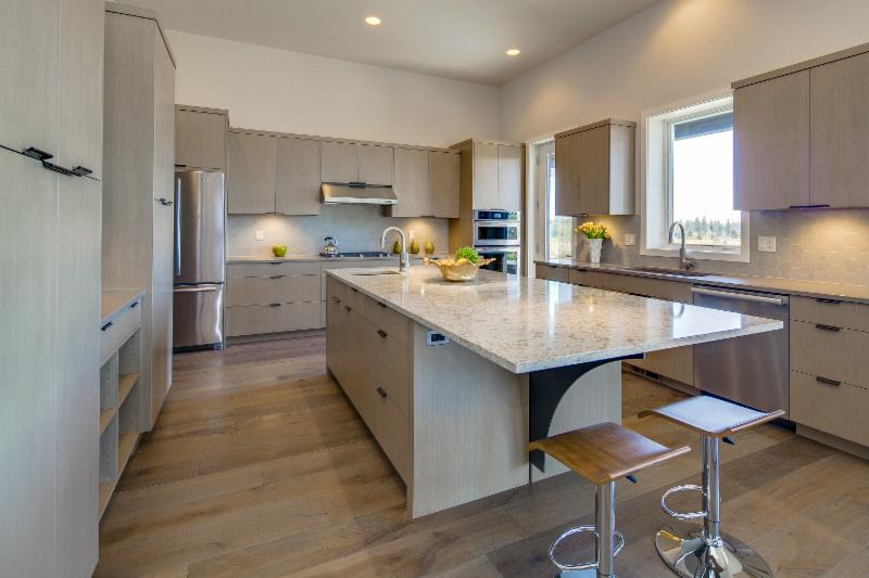 kitchen at Tartan Druim at Tetherow in a home for all seasons