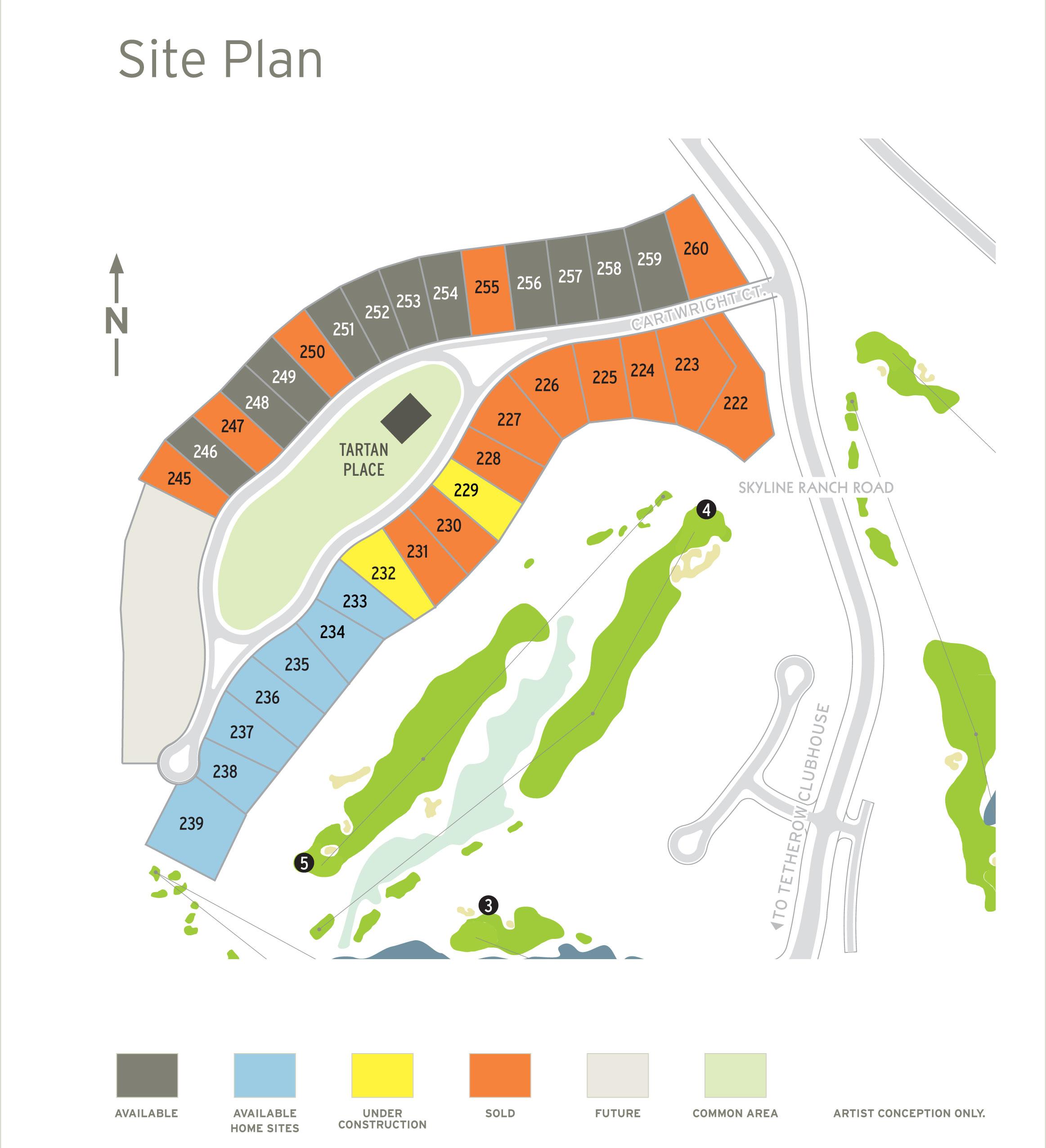Tartan Druim at Tetherow Property Map October 19, 2018